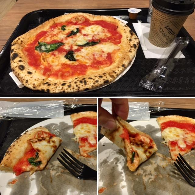 ピザの食べ方